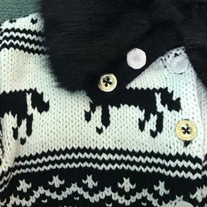 Juicy Couture Girls Collar Sweater
